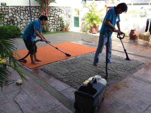 Carpet Cleaning at Customer's House.